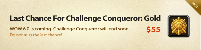 Last Chance For Challenge Conqueror: Gold